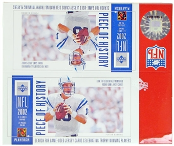 2002 Upper Deck Piece Of History Football Retail Box