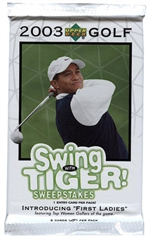 2003 Upper Deck Golf Retail Pack