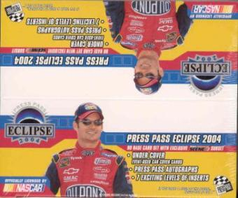 2004 Press Pass Eclipse Racing 24 Pack Box (1 Race Used Event Card/Box)