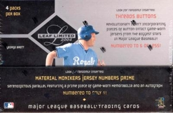 2004 Leaf Limited Baseball Hobby Box