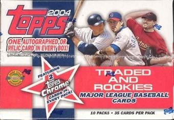 2004 Topps Traded & Rookies Baseball Jumbo Box