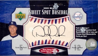 2005 Upper Deck Sweet Spot Baseball Hobby Box