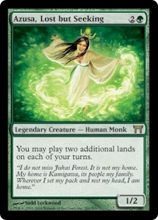 Magic the Gathering Champs of Kamigawa Single Azusa, Lost but Seeking - NEAR MINT (NM)