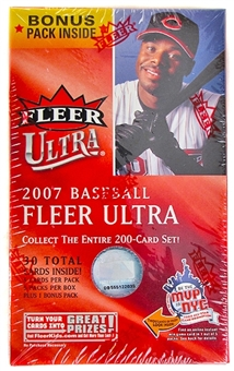2007 Fleer Ultra Baseball Blaster 6 Pack Box