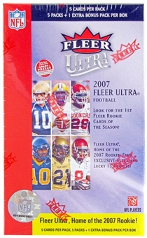 2007 Fleer Ultra Football 6 pack Box