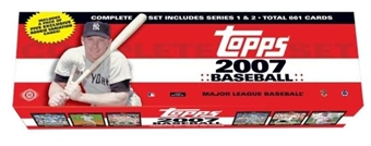 2007 Topps Factory Set Baseball Hobby (Box) Case (12 Sets)