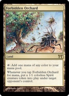 Magic the Gathering Champs of Kamigawa Single Forbidden Orchard - SLIGHT PLAY (SP)