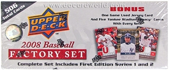 2008 Upper Deck 1st Edition Baseball Factory Set