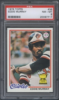1978 Topps Baseball #36 Eddie Murray Rookie PSA 8 (NM-MT) *7717