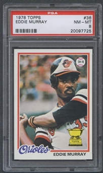 1978 Topps Baseball #36 Eddie Murray Rookie PSA 8 (NM-MT) *7725