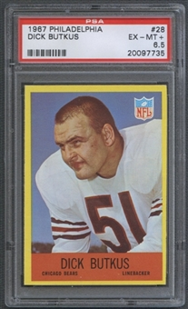 1967 Philadelphia Football #28 Dick Butkus PSA 6.5 (EX-MT+) *7735