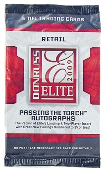 2009 Donruss Elite Football Retail Pack