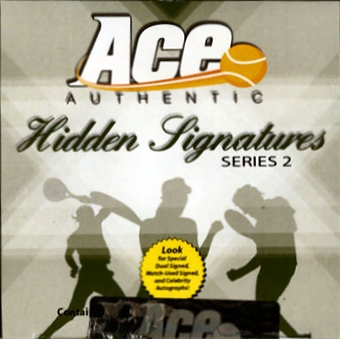2010 Ace Authentic Hidden Signatures Series 2 Tennis Hobby Box