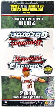 2010 Bowman Chrome Baseball Rack Pack Box (18 Packs)