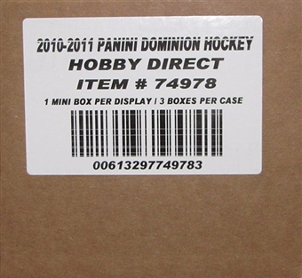 2010/11 Panini Dominion Hockey Hobby 3-Box Case