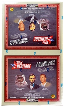 2009 Topps Heritage American Heroes Ed. Baseball Rack Pack Box (20 Packs!)