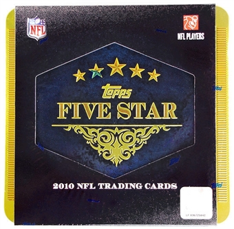2010 Topps Five Star Football Hobby Box (Tin)