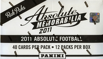 2011 Panini Absolute Memorabilia Football Rack Box