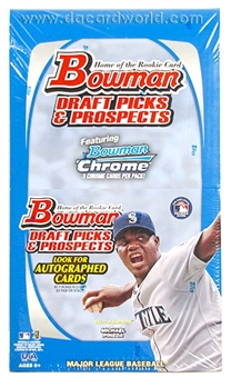 2011 Bowman Draft Picks & Prospects Baseball Rack Pack Box