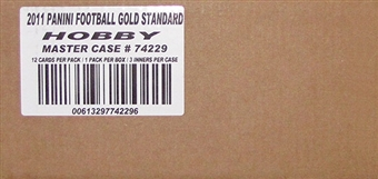 2011 Panini Gold Standard Football Hobby 15-Box Case