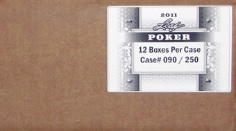 2011 Leaf Poker Trading Cards Hobby 12-Box Case