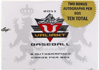 2011 Leaf Valiant Baseball Hobby Box