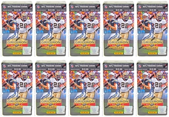 2011 Panini Gridiron Gear Football 8-Pack Box (Lot of 10) - KAEPERNICK & NEWTON ROOKIES!