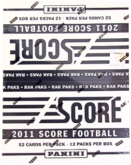 2011 Score Football Rack Pack Box