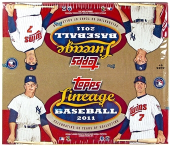 2011 Topps Lineage Baseball Retail 12-Pack Box