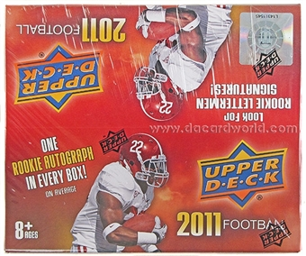 2011 Upper Deck Football Retail 24-Pack Box