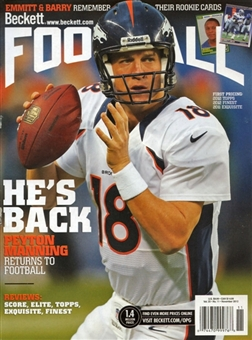 2012 Beckett Football Monthly Price Guide (#262 November) (Manning)