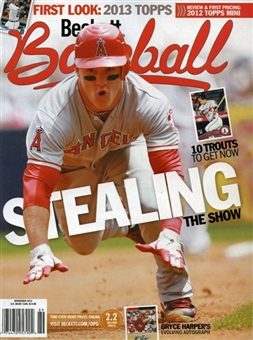 2012 Beckett Baseball Monthly Price Guide (#80 November) (Trout)