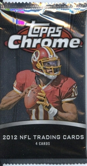 2012 Topps Chrome Football Retail 24-Pack Lot - WILSON & LUCK ROOKIES!
