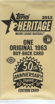 2012 Topps Heritage Baseball Buy Back Topper Pack