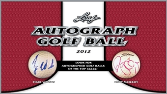 2012 Leaf Autographed Golf Ball Hobby 8-Box Case
