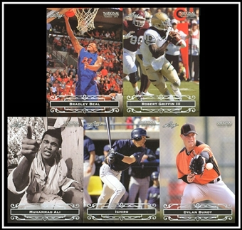 2012 Leaf National Sports Collectors Convention VIP Promo 5-Card Set