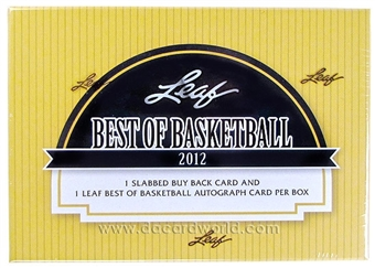 2012 Leaf Best Of Basketball Hobby Box