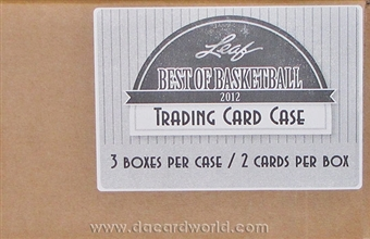 2012 Leaf Best Of Basketball Hobby 3-Box Case