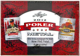 2012 Leaf Metal Poker Trading Cards Hobby Box