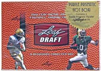 2012 Leaf Metal Draft Football Hobby HOT Box