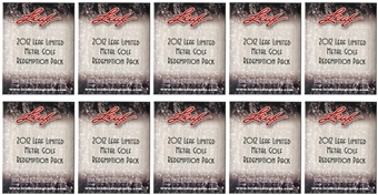 2012 Leaf Limited Metal Golf Redemption Pack (Lot of 10)