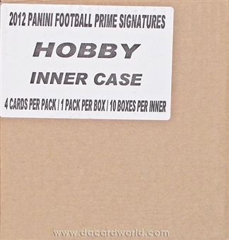 2011 Panini Prime Signatures Football Hobby 10-Box Case