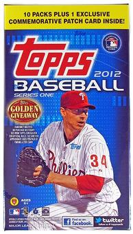 2012 Topps Series 1 Baseball Blaster 10-Pack Box