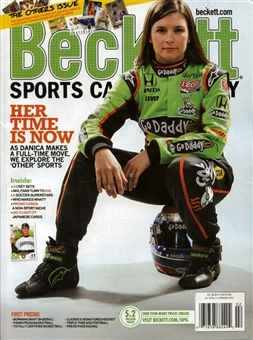 2013 Beckett Sports Card Monthly Price Guide (#335 February) (Danica Patrick)