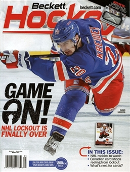 2013 Beckett Hockey Monthly Price Guide (#247 March) (Chris Kreider)