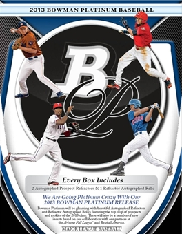 2013 Bowman Platinum Baseball Hobby Pack