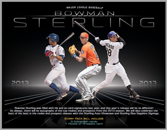 2013 Bowman Sterling Baseball Hobby 8-Box Case (Presell)