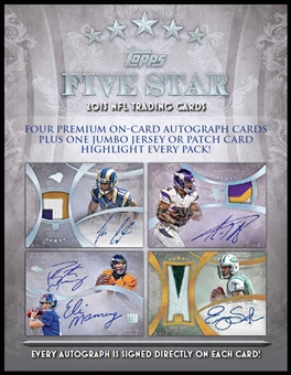 2013 Topps Five Star Football Hobby 3-Box Case (Presell)