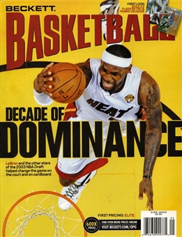 2013 Beckett Basketball Monthly Price Guide (#248 May) (LeBron James)