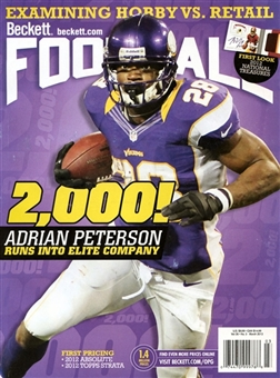 2013 Beckett Football Monthly Price Guide (#266 March) (Peterson)